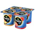 Йогурт Campina Fruttis клубника/персик 5% 4x115г