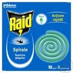 Спираль Raid от комаров 10шт