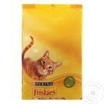 Hrană uscată pentru pisici Friskies vită/pui/legume 1.5kg