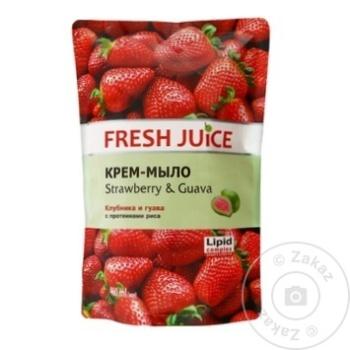 Rezerva sapun lichid Fresh Juice Strawberry/Guava 460ml - cumpărați, prețuri pentru Metro - foto 1
