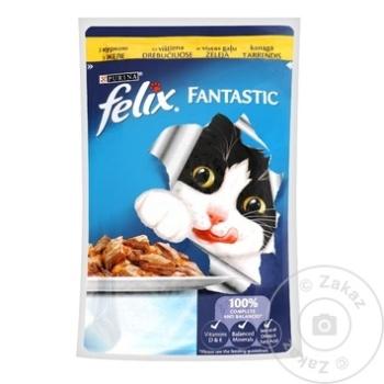 Hrana pentru pisici Felix cu pui in jeleu 100g - cumpărați, prețuri pentru Metro - foto 1