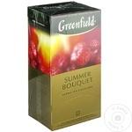 Чай Greenfield травяной с малиной Summer Bouquet 25x2г