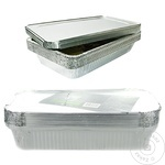 Алюминиевые контейнеры с крышкой METRO Professional 0,51л х 10шт