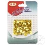 Pioneze metalice aurii 100 bucăți în set