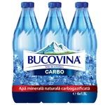 Вода минеральная газированная Bucovina ПЭТ 6x1,5л
