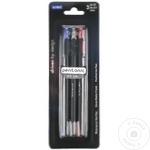 Ручка гелевая Linc синяя/ красная/ чёрная 3 штуки
