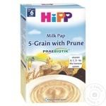 Terci HiPP 5 cereale/ lapte/ prune 6+ luni 250g
