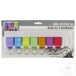 Set breloc pentru chei diverse culori 8buc + suport