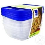 Set 4 cutii alimentare Kis 0,75l
