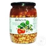 Fasole Albă în tomate Delicios 720g