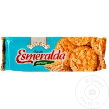 Biscuiti Roshen Esmeralda cu arahide 150g - cumpărați, prețuri pentru Metro - foto 1