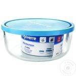 Круглый стеклянный контейнер с крышкой Bormioli Frigoverre 2,3л