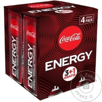 Bautură energizantă Coca Cola 4 bucăți x 0.25l - cumpărați, prețuri pentru Metro - foto 1