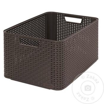 Ящик для хранения Style 43х32х23см - купить, цены на Метро - фото 1
