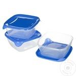 Set 3 cutii alimentare Curver Fresh&Go 0,8l