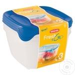 Set 3 cutii alimentare Curver Fresh&Go 1,2l