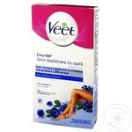 Восковые полоски для депиляции Veet sensitive 12шт