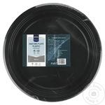 Farfurii plastic Metro Professional negre 22cm 20buc