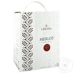 Vin Cricova National Merlot rosu sec bag in box 3l