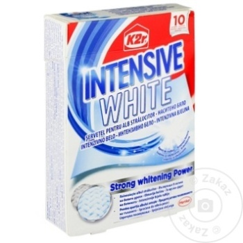 Салфетки для белья Catcher K2R Intensive White 10шт - купить, цены на Метро - фото 1