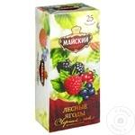 Чай Майский черный в пакетиках со вкусом лесных ягод 25x2г