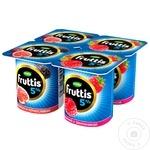 Iaurt Campina Fruttis zmeura/mure/smochine 5% 4x115g