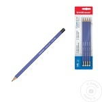 Creioane Erich Kraus cu radiera HB 4buc