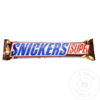 Baton de ciocolata Snickers Super 95g - cumpărați, prețuri pentru Metro - foto 1