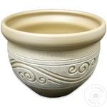 Вазон керамический арабеска 30см