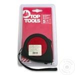 Рулетка с фиксатором Top Tools прорезиненная 19мм х 5м (1упак=10шт)