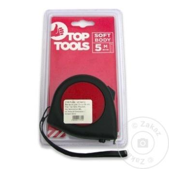Рулетка с фиксатором Top Tools прорезиненная 19мм х 5м (1упак=10шт) - купить, цены на Метро - фото 1
