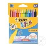 Карандаши-мелки Bic Wax Crayons цветные 12шт