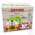 Стеклянный чайник Ertone 0,9л