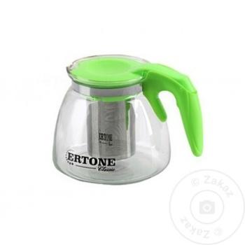 Стеклянный чайник Ertone 1,1л - купить, цены на Метро - фото 3