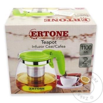 Стеклянный чайник Ertone 1,1л - купить, цены на Метро - фото 1