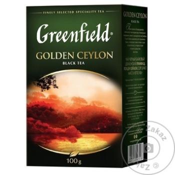 Ceai Greenfield negru infuzie Ceylon 100g - cumpărați, prețuri pentru Metro - foto 1