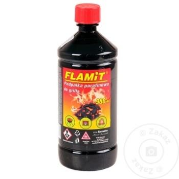 Зажигательная жидкость Flamit 980мл - купить, цены на Метро - фото 1
