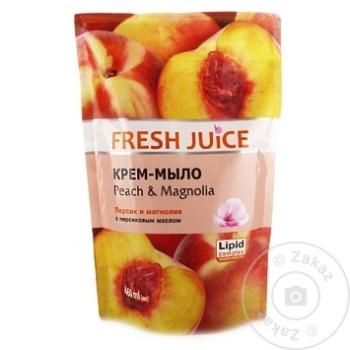 Rezerva sapun lichid Fresh Juice Peach/Magnolia 460ml - cumpărați, prețuri pentru Metro - foto 1