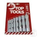 Ключи трубчатые Top Tools 6-22мм набор