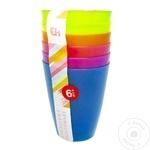 Set pahare plastic 6buc