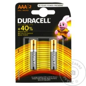 Baterie Duracell AАА Mn2400 2buc - cumpărați, prețuri pentru Metro - foto 2