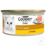 Корм для кошек Gourmet курица 85г