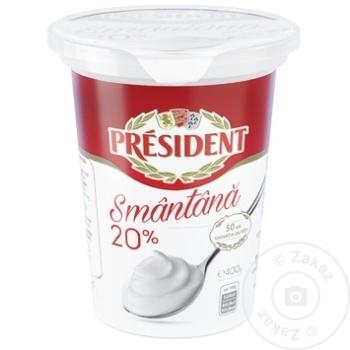 Smantana President 20% 400g - cumpărați, prețuri pentru Metro - foto 1