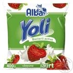 Iaurt de băut Alba Yoli căpșune 400g