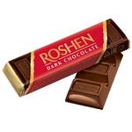 Шоколадный батончик Roshen черный 43г