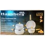 Set oale Hausberg, alb 7 piese