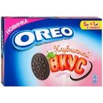 Печенье Oreo со вкусом какао и клубничным кремом 228г