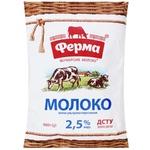 Молоко Ферма ультрапастеризованное 2,5% 0,9л