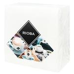 Салфетки Rioba двухслойные белые 33х33см 50шт