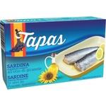 Sardine în ulei de floarea soarelui Tapas 120g